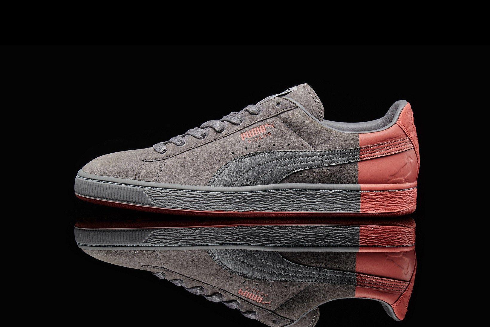 Suede Pigeon Staple Gray Sneakers Puma 36633401 | MEN | Shoe
