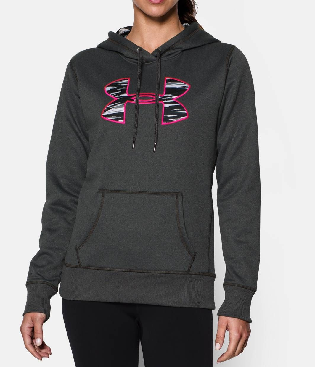 f257fa895 Shop Under Armour for Women's UA Storm Armour® Fleece Printed Big Logo  Hoodie in our Womens Tops department. Free shipping is available in US.