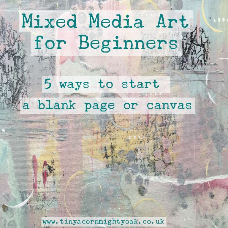 Mixed Media for Beginners watercolour acrylic gelatos 5 ways to start a blank page or canvas