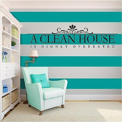 New A Clean House Inspirational Vinyl Wall Art Vinyl Quote Home - Custom vinyl wall decals dogs