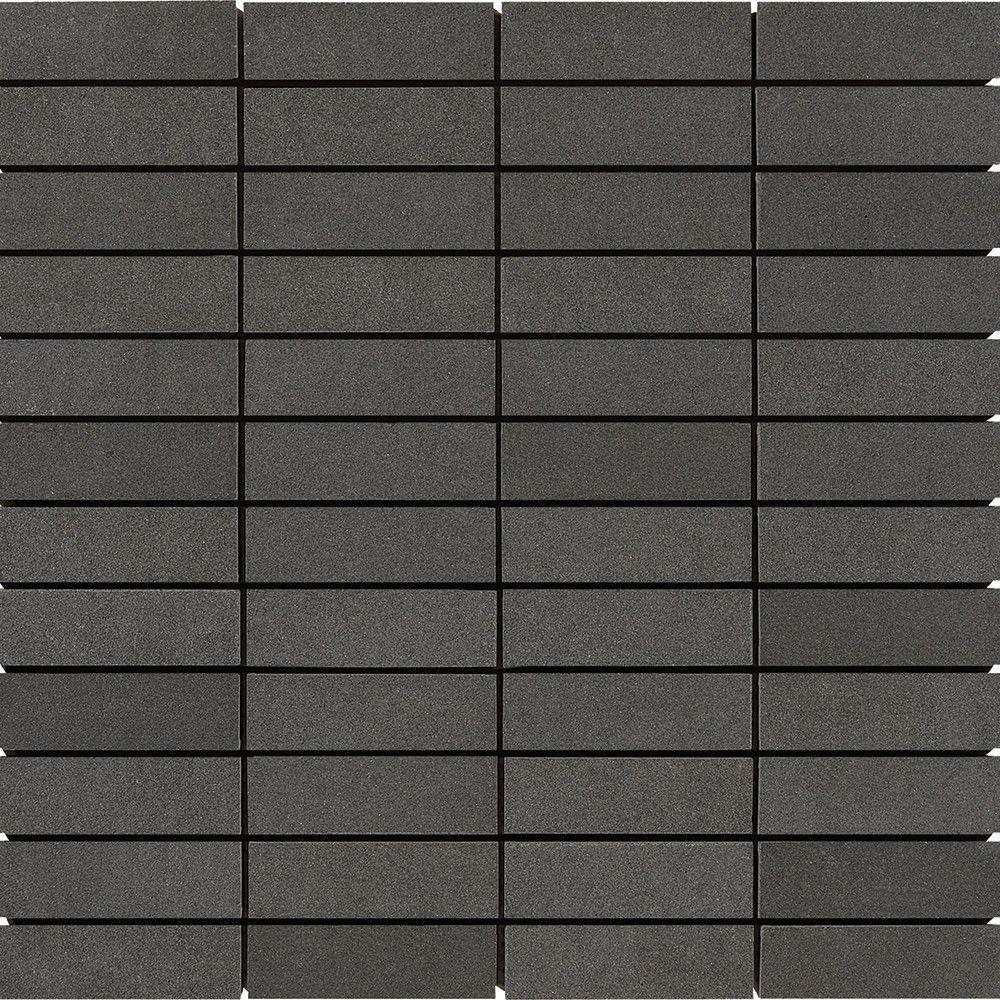 1 x 3 Honed Basalt Mosaic Tile