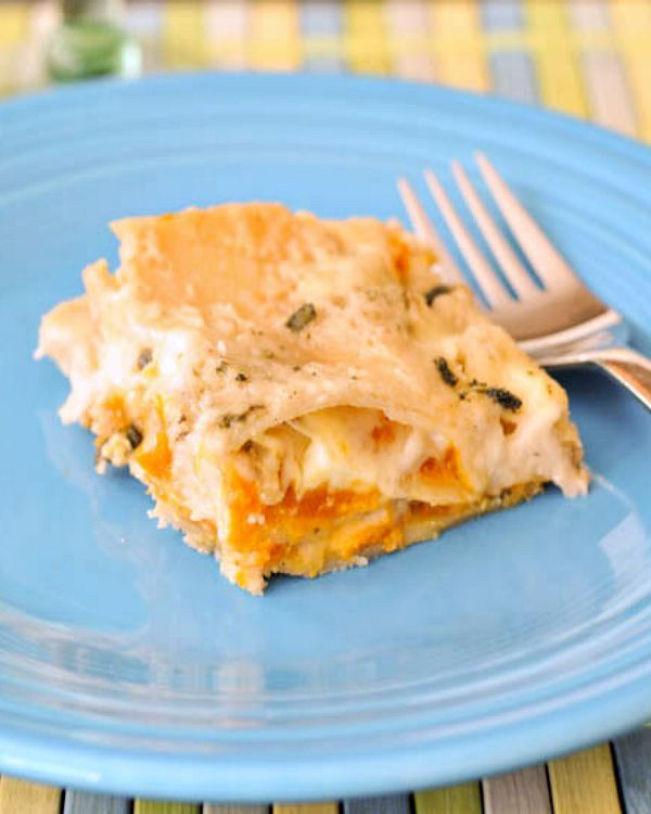 roasted butternut lasagna with crispy sage and cashew