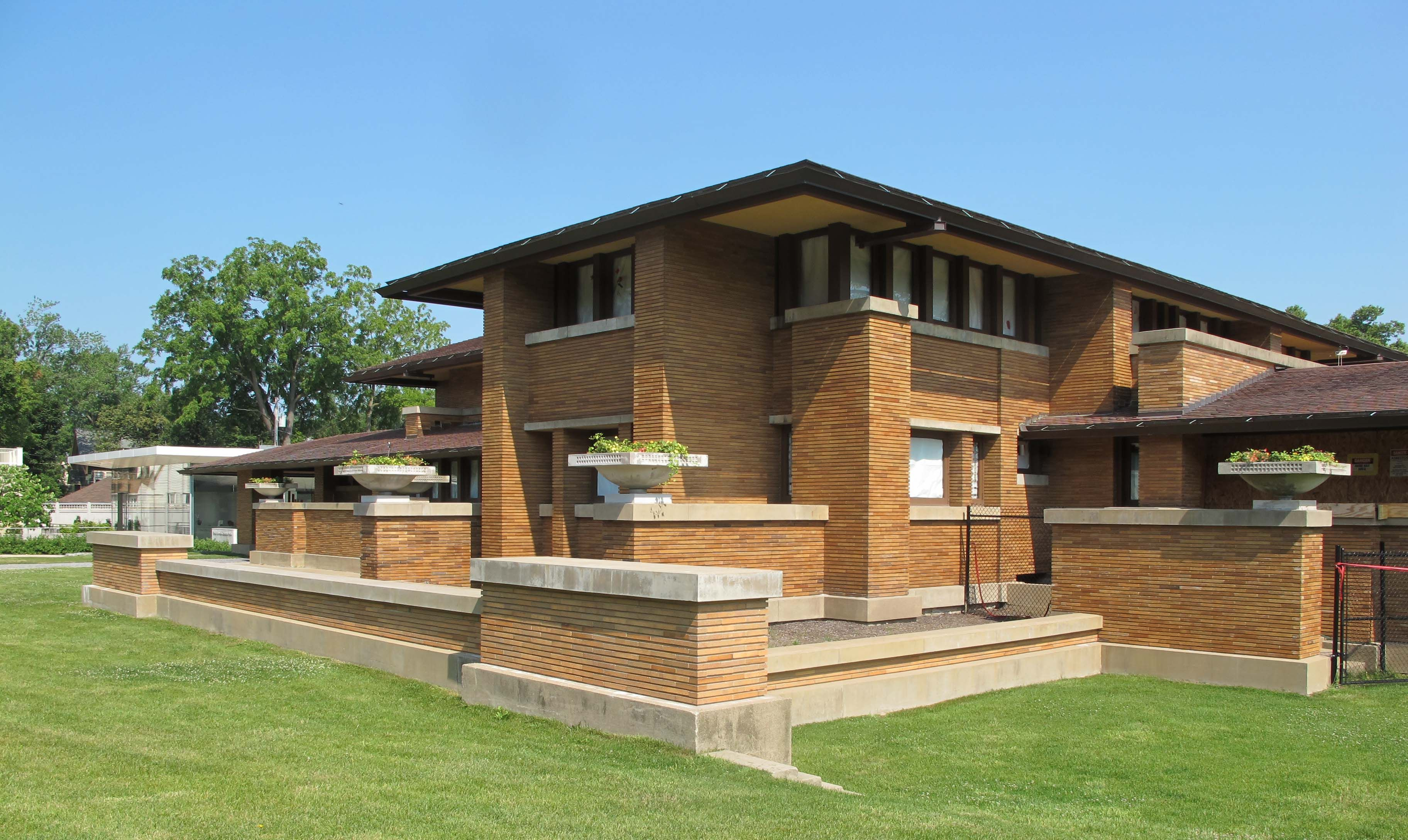Darwin d martin house frank lloyd wright 1903 5 for Frank lloyd wright prairie house plans