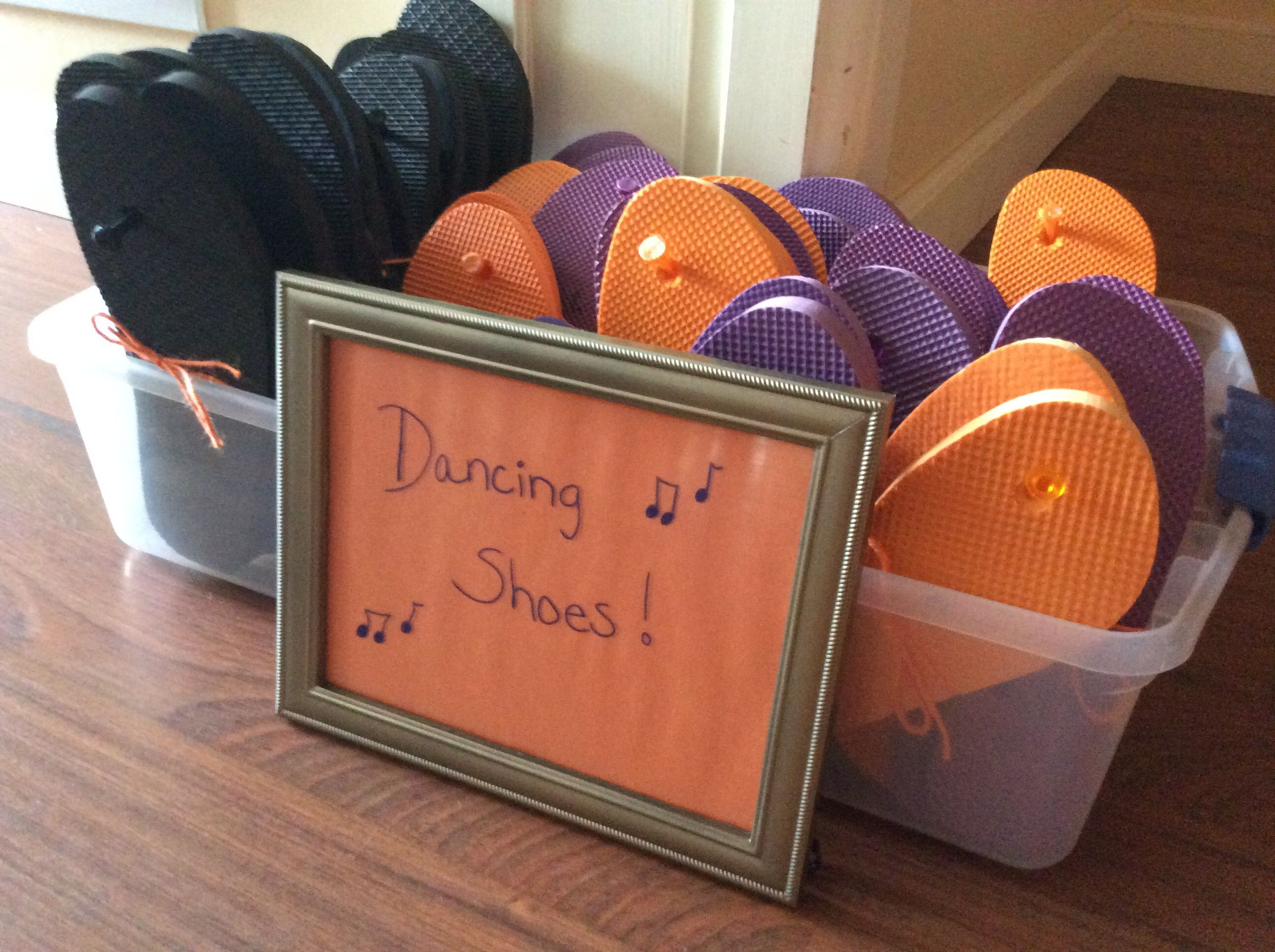 A neat idea for when the dance floor opens