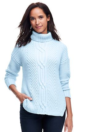 d16009bb319f Women s Shaker Cable Turtleneck Sweater