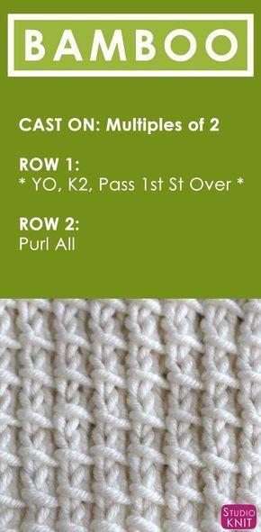 Bamboo Stitch Knitting Pattern | Studio Knit
