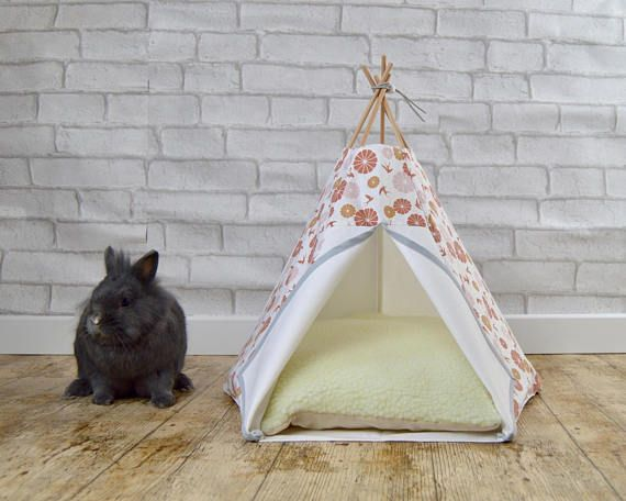 Pet Bed In Shape Of Rabbit Teepee Or Guinea Pig Teepee Including A