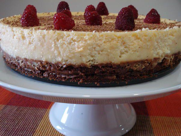 Cheesecake com Base de Chocolate