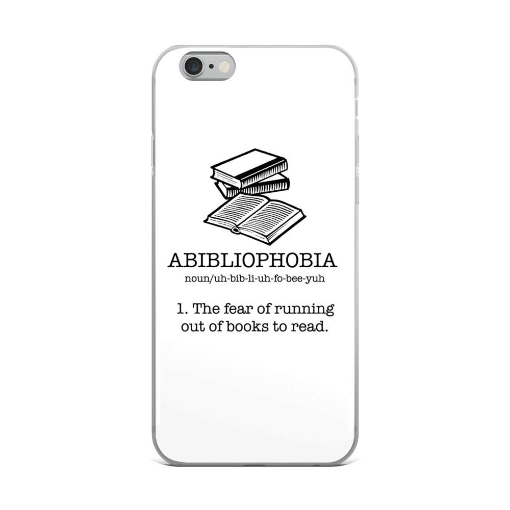 Abibliophobia - Fear of running out of books to read iPhone case