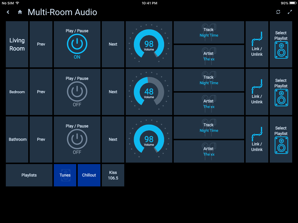 Examples Of Habpanel Solutions Tutorials Examples Habpanel Examples Openhab Community Multi Room Audio Home Automation Solutions