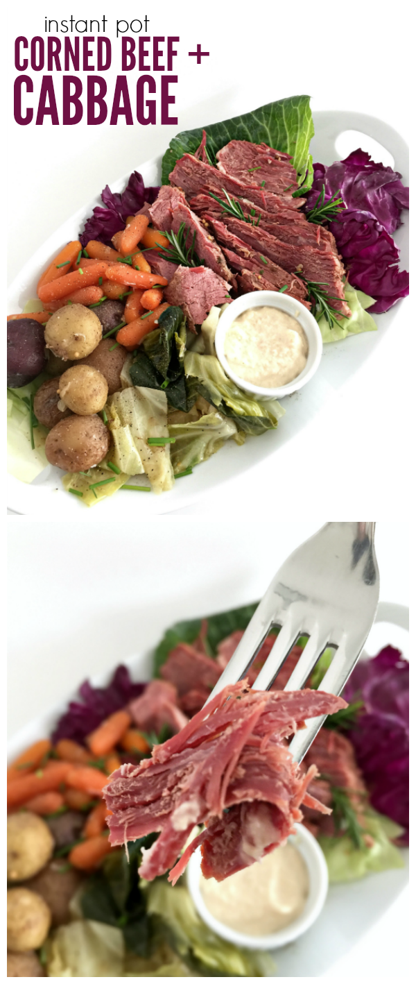 Instant Pot Corned Beef and Cabbage recipe. Minimal prep. Set it and forget it.
