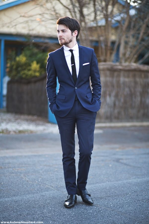Navy & black | Stylish men | Pinterest | Grooms, Skinny suits and Wedding