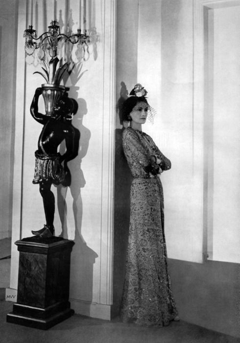 portrait of coco chanel black and white black leather