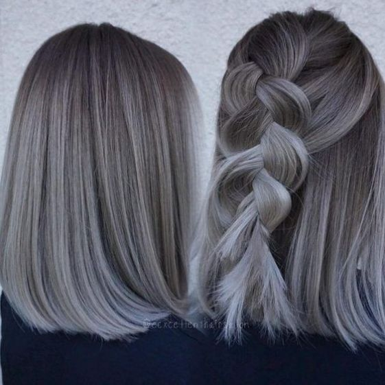How To Wear Trendy Gray Hair Ash Hair Color Hair Styles Grey
