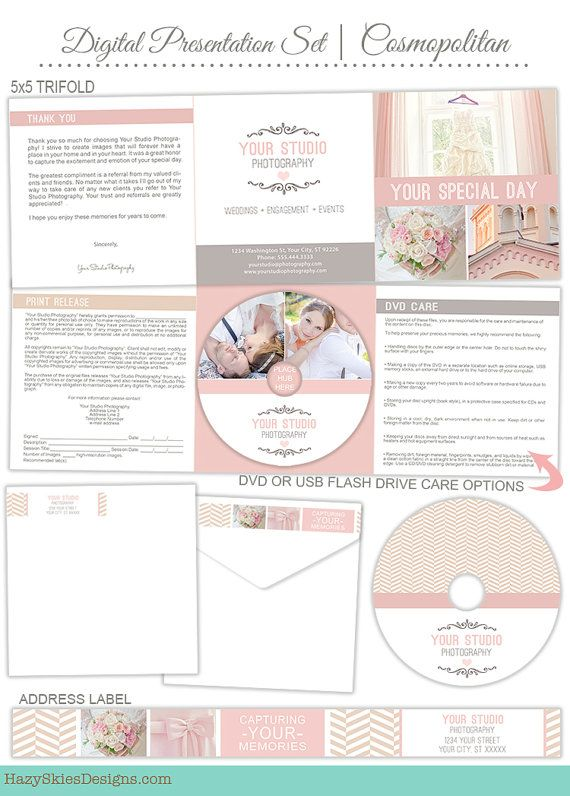 INSTANT DOWNLOAD Digital Presentation Set for Photographers - Photography Packaging - DPS101