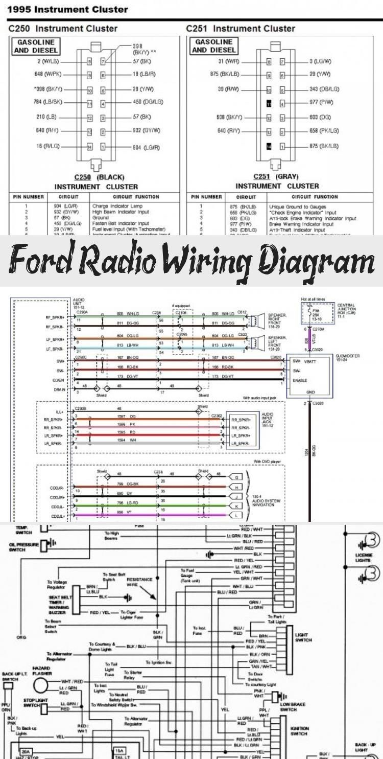 Ford Radio Wiring Diagram In 2020 Ford Radio Ford Ranger