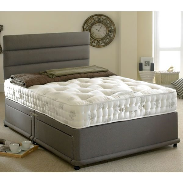 Bedmaster Signature Silver 1400 Divan Set Next Day Select Day Delivery Mattress Springs Mattress Silver Bedding