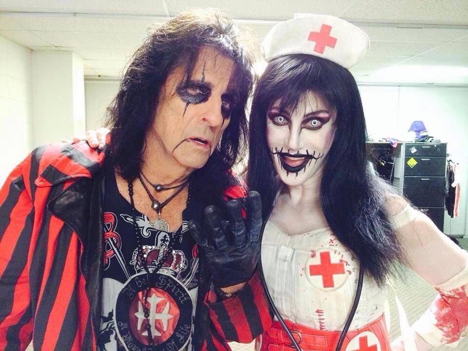 Alice And Wife Sheryl Alice Cooper Shock Rock Cooper