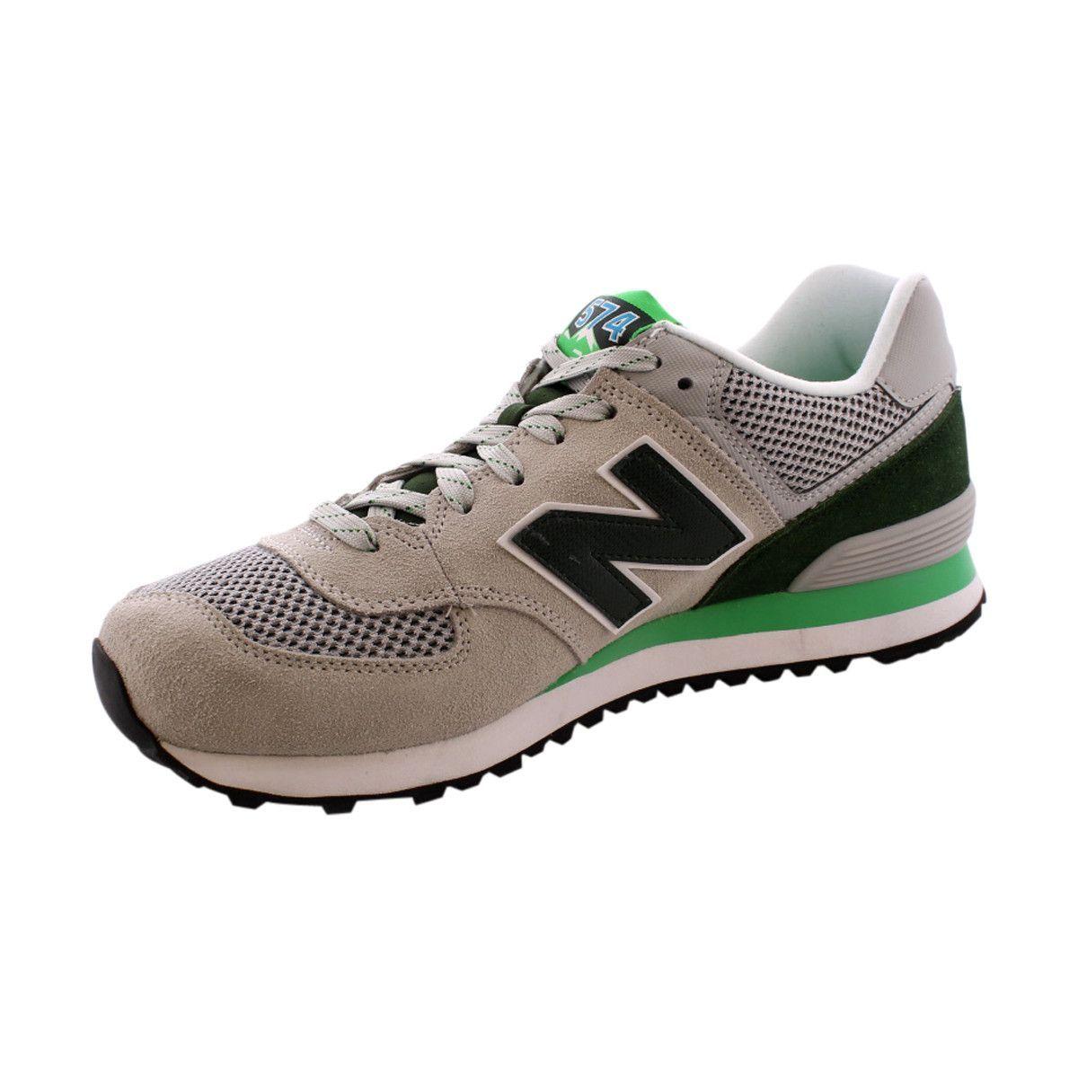 New Balance - Men's Day Hiker Run 574 Sneakers - Grey/Green