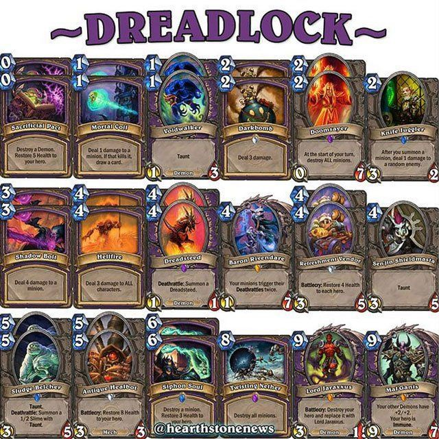 hearthstone deck warlock dreadsteed