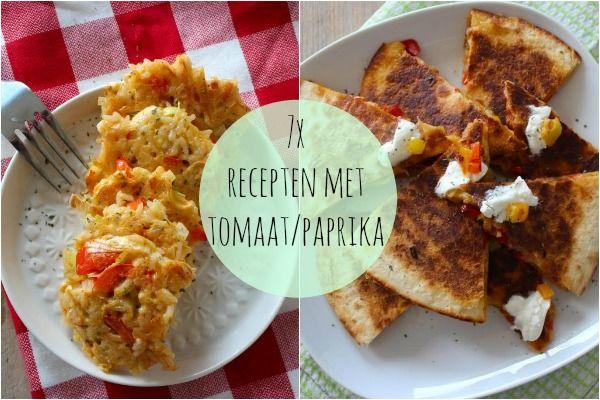 7x recepten met tomaat en/of paprika - Lekker en Simpel