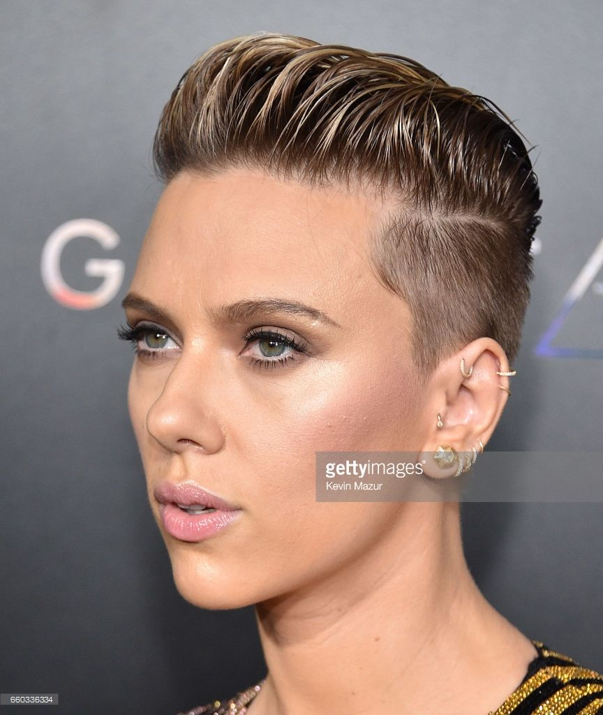 Scarlett Johansson attends Ghost In The Shell New York premiere at...