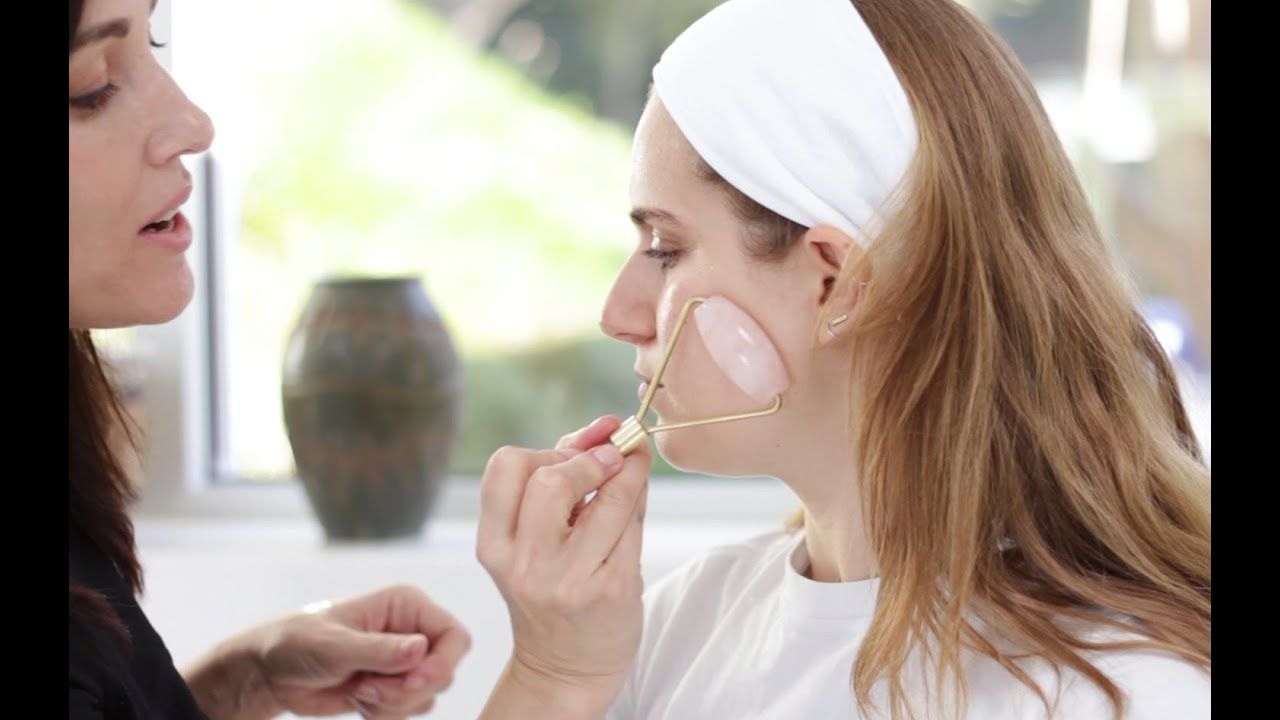 How to use a rose quartz face roller face roller beauty