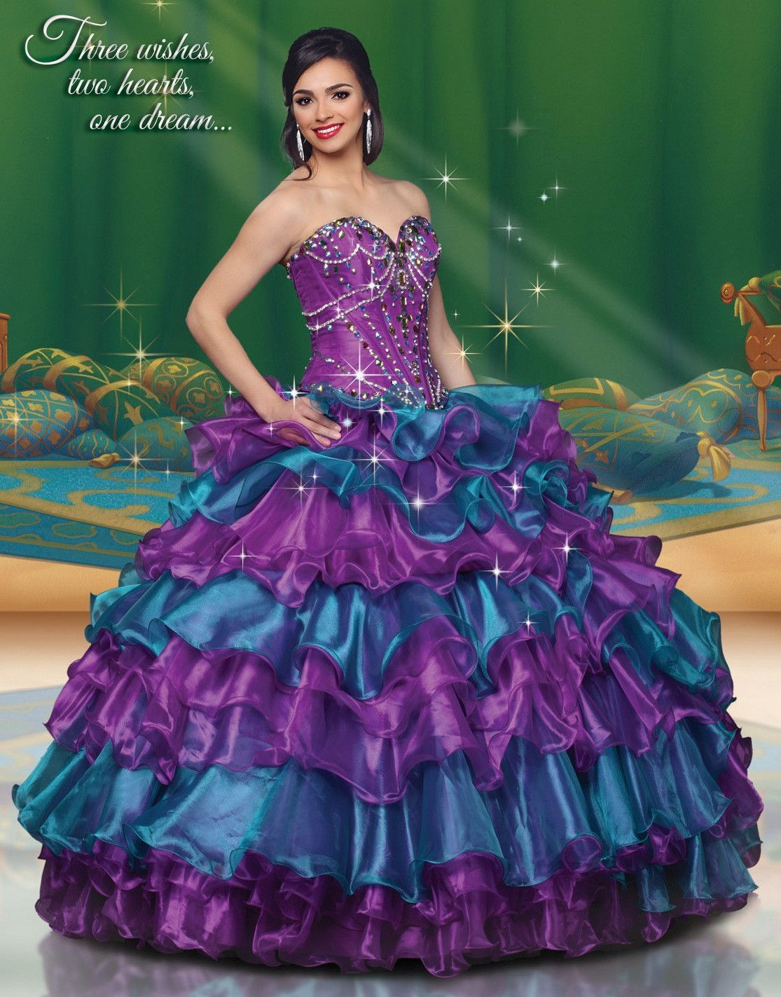 Disney Royal Ball Quinceanera Dress Jasmine Style 41058 | Vestidos ...