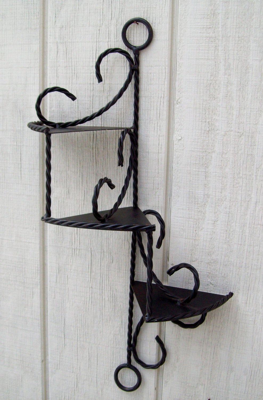 Vintage 3 tier wrought iron wall shelf 1950s 1850 via etsy vintage 3 tier wrought iron wall shelf 1950s 1850 via etsy amipublicfo Choice Image