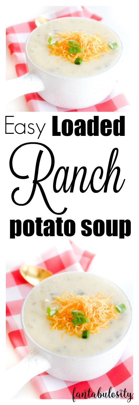 "Mmmmm! I had never thought of adding ranch to potato soup. So easy and ""loaded?!"" Yes please!!"
