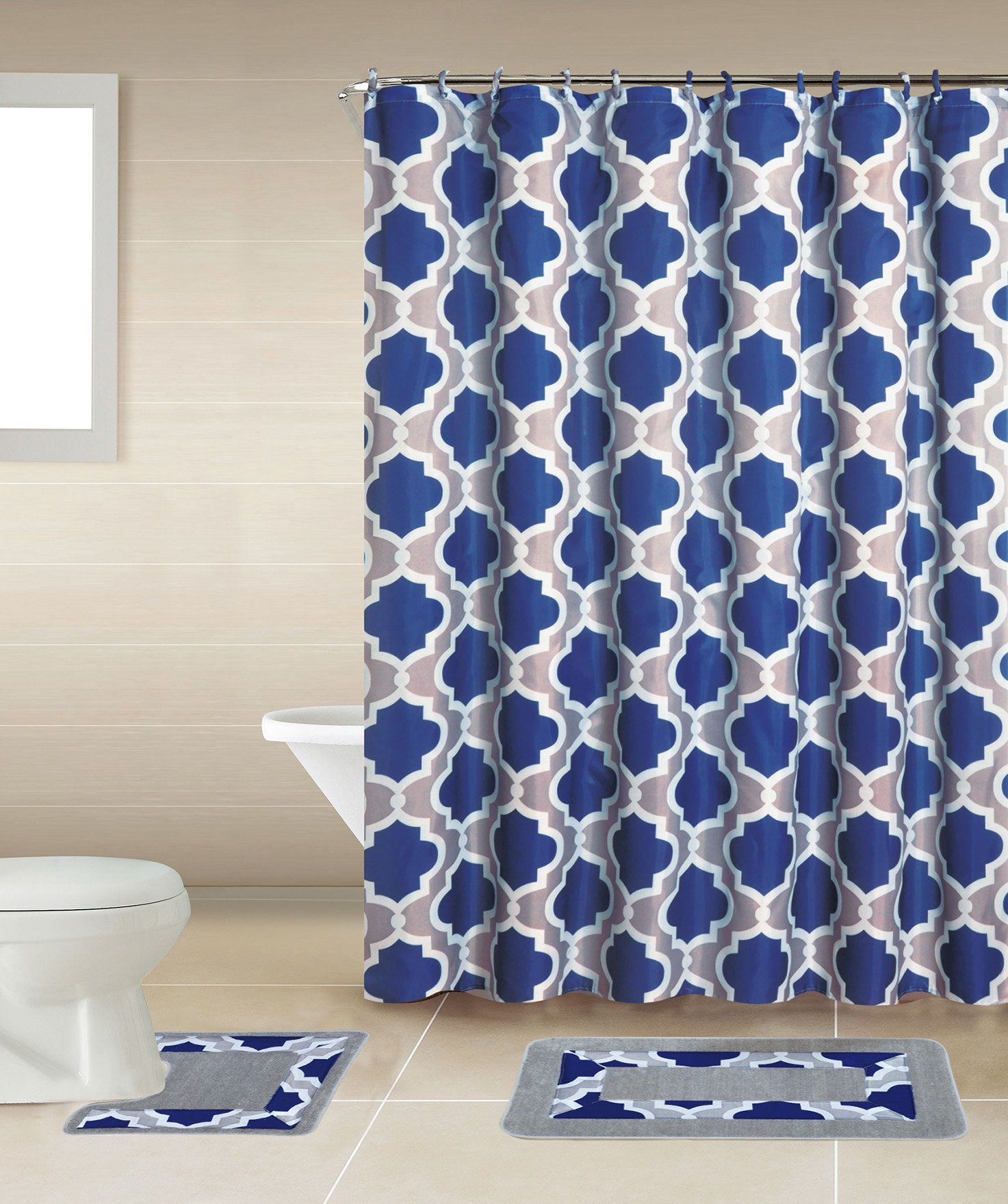 Rosella piece shower curtain set products pinterest shower