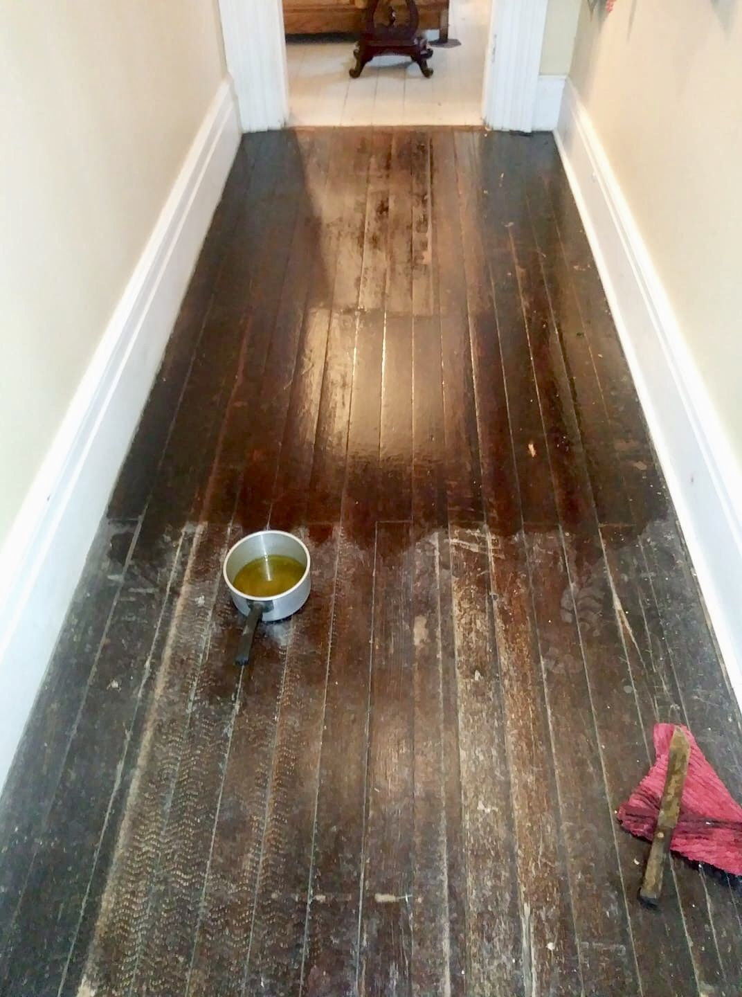 3 4 Cup Linseed Oil 1 4 Cup Turpentine And 1 4 Cup Vinegar Mix Together And Put On With Steel Wool And Let Si Clean Tile Natural Cleaning Recipes Linseed Oil