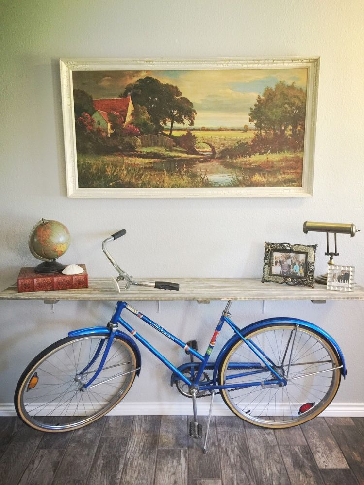 50s Bike Turned Into A Priceless Credenza Bicycle Old Bicycle