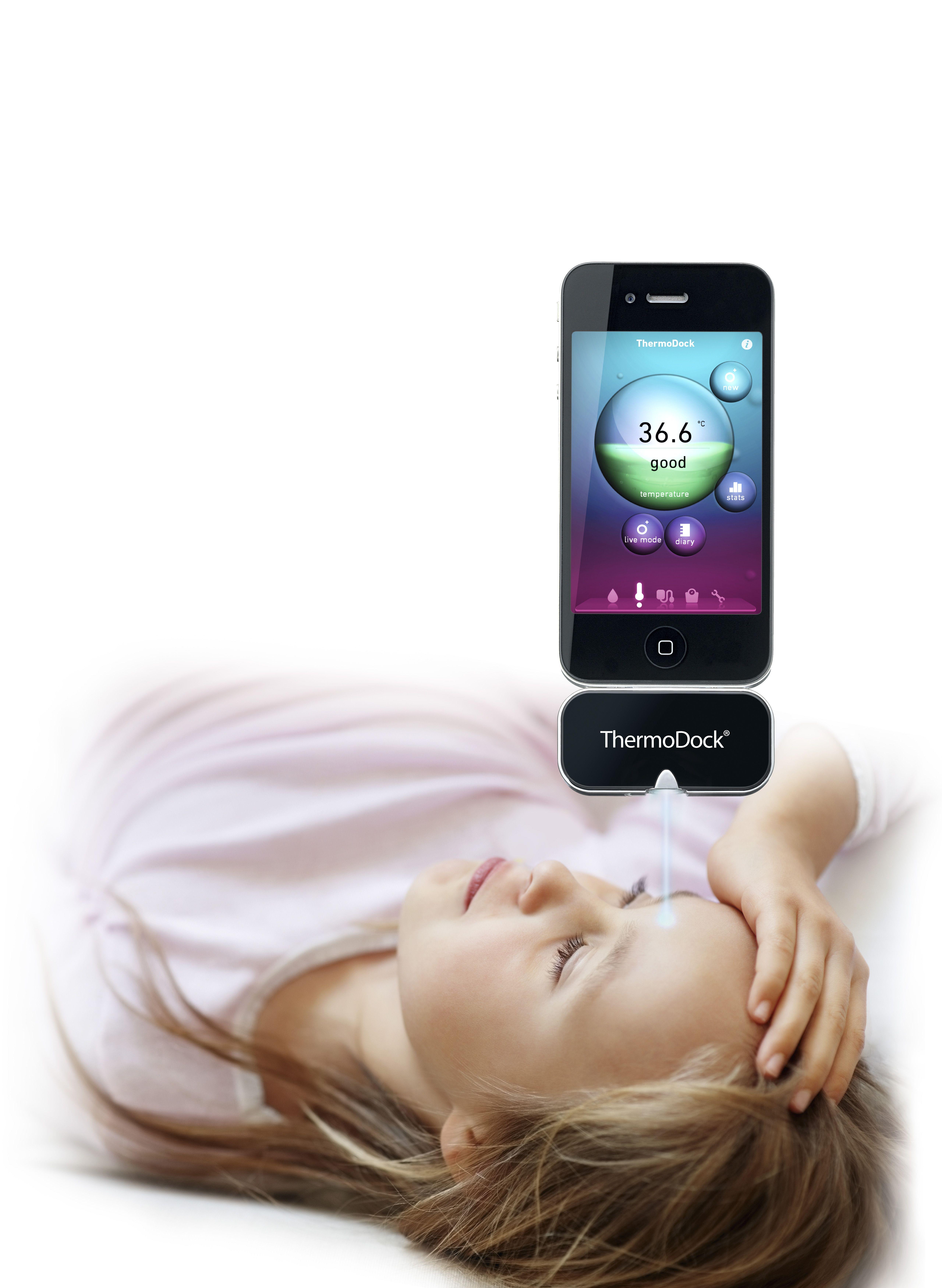 "MEDISANA ThermoDock® - ""Okos""-hőmérő modul"