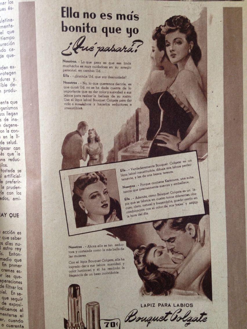 """Publicidad vintage . Revista """"La familia"""" México 1944"""