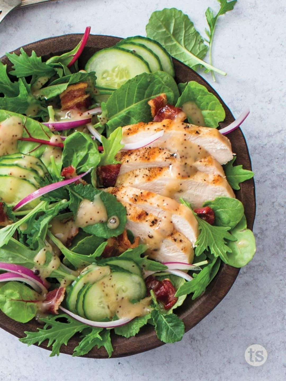 Power Greens Grilled Chicken Salad Recipe Tastefully Simple Recipe Green Eating Grilled Chicken Salad Recipe Grilled Chicken Salad