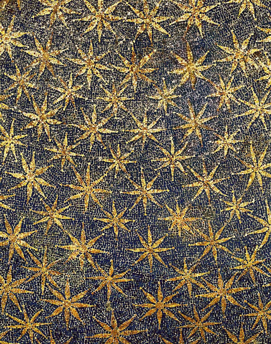 Mosaic Stars On The Ceiling Of The Vault Mausoleo Di