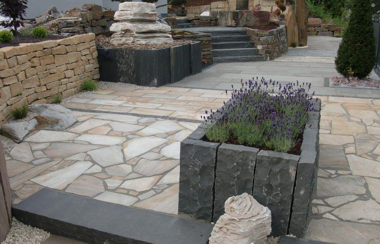 garten terrasse au engestaltung gestalten gartengestaltung naturstein hochbeet selber machen. Black Bedroom Furniture Sets. Home Design Ideas