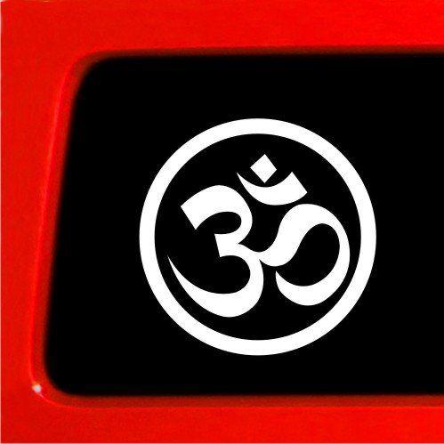 OM OHM Yoga Vinyl Sticker Decal Girl Car Sticker Peace SYMBOL - How to install custom die cut vinyl stickers