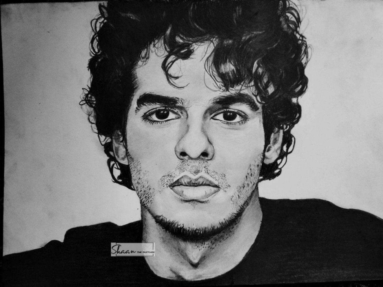 Ishaan khatter portrait in 2020 Portrait, Male sketch, Art