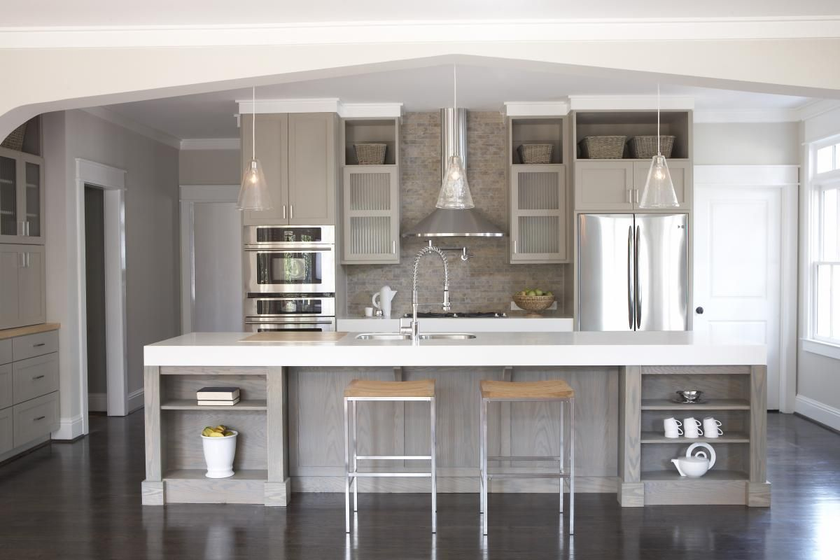Astonishing Grey Kitchen Cabinets The Futuristic Color From Impressive Kitchen Cabinet Color Design Decorating Inspiration