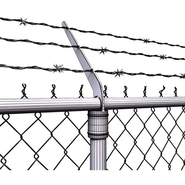 chainlink fence barbed wire 3d model ❤ liked on Polyvore | Art ...
