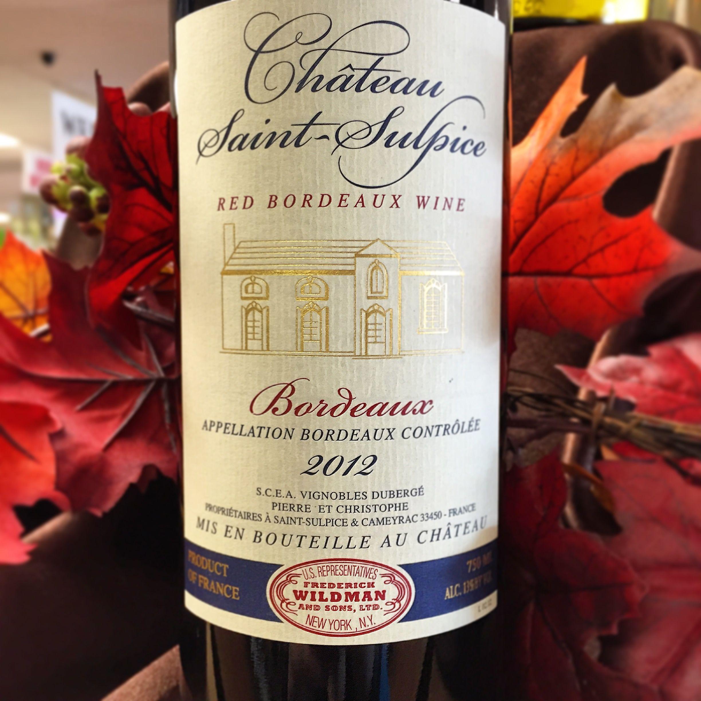 Chateau Saint Sulpice Bordeaux Red Fruit Bottle Bordeaux