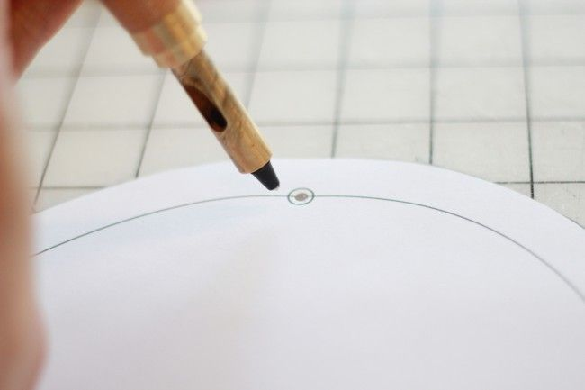 Use A Screw Punch To Make Holes In Patterns For Marking The