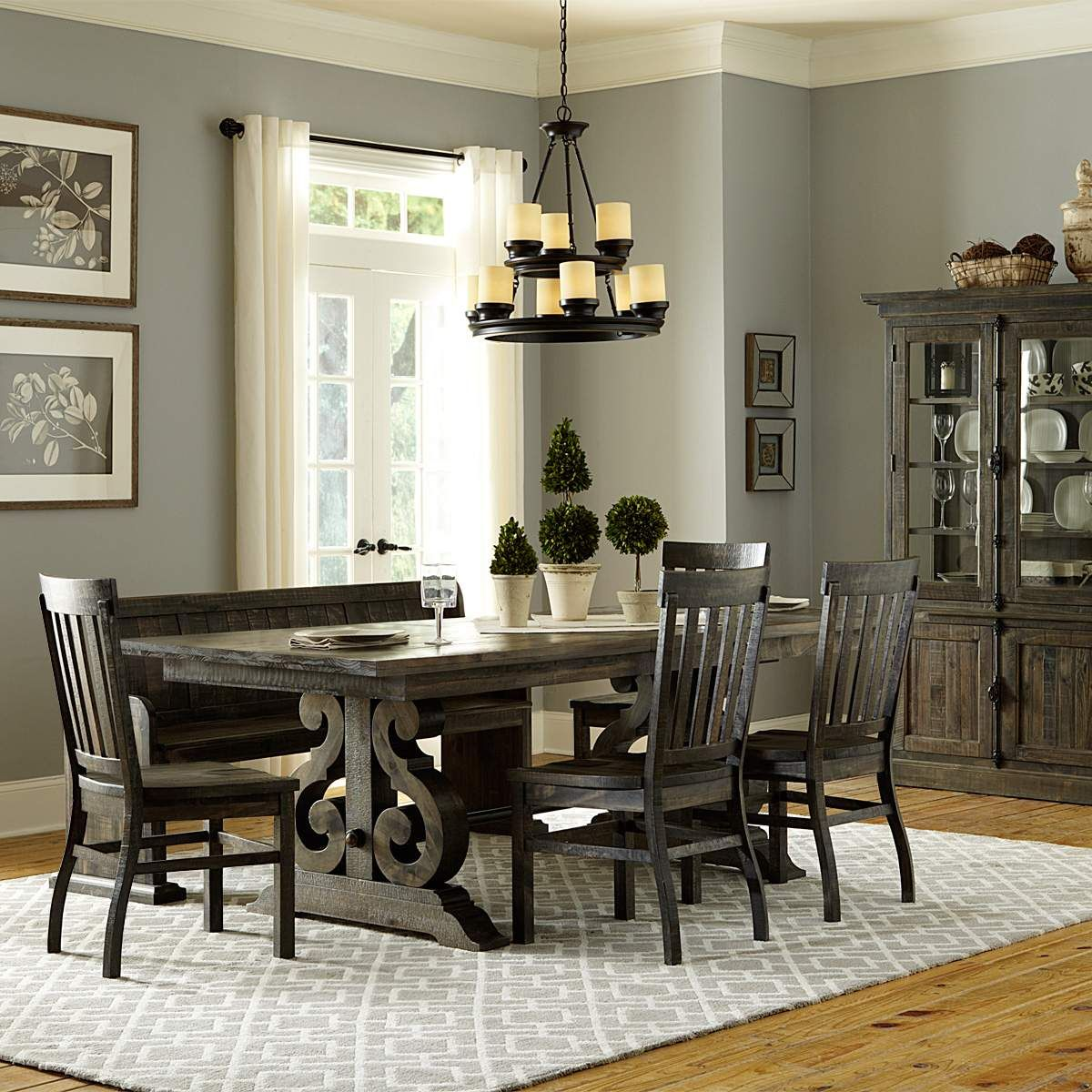 Hacienda Dining Collection Distressed Dining Room Set Dining Room Sets Rectangular Dining Table Dining Room Furniture