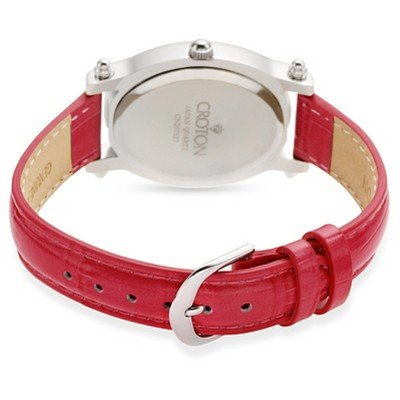 Croton Women's Brass Wristwatch - Red