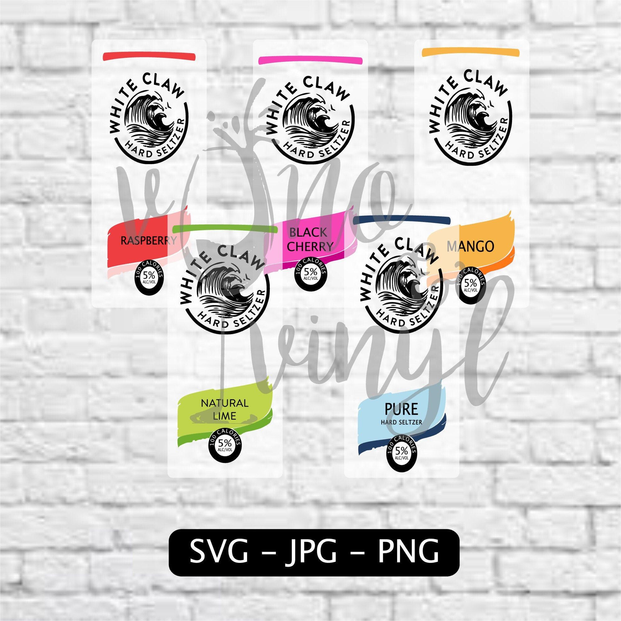 White Claw SVG/Image Combo Pack Pure Mango Black Cherry