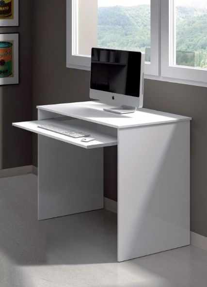 Milan Small White Computer Desk For Small Spaces Desks For Small