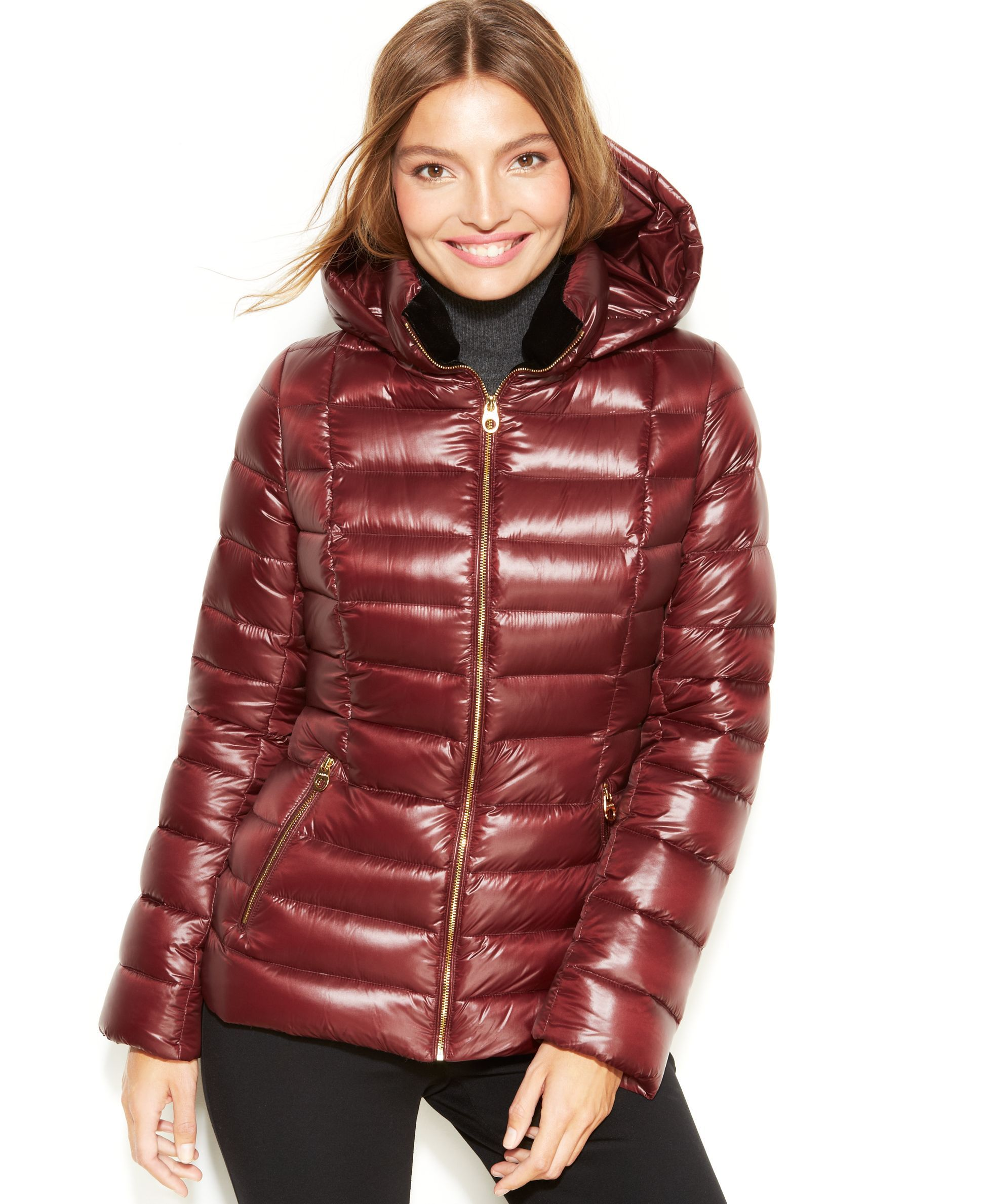 Calvin Klein Hooded Quilted Packable Puffer Coat Coats