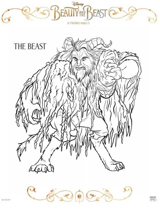 Disney Beauty And The Beast Coloring Pages Disney Beauty And The Beast Coloring Pages Beauty And The Beast Movie